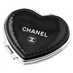 Heart Shaped PU leather Compact Mirror