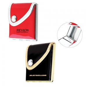 Compact Purse Mirror in Soft PU Leather