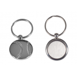 Metal Baseball Shaped Keychain with laser engraving