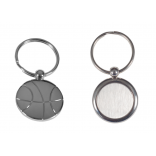 Metal Basketball Shaped Keychain with laser engraving