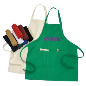 10 oz. Poly-Cotton Apron with Pockets