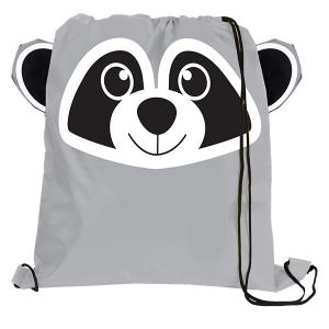 Raccoon Paws N Claws Drawstring Backpack