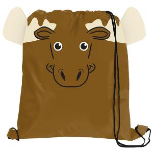 Moose Paws N Claws Drawstring Backpack