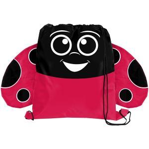 Ladybug Paws N Claws Drawstring Backpack
