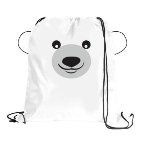 Polar Bear Paws N Claws Drawstring Backpack