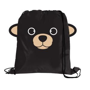 Black Bear Paws N Claws Drawstring Backpack