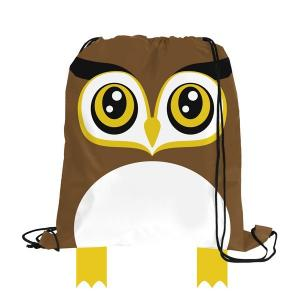 Brown Owl Paws N Claws Drawstring Backpack