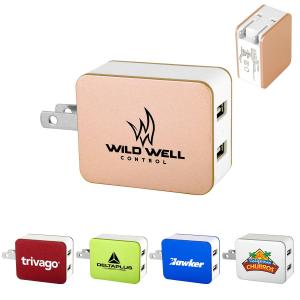2 Port USB Folding Wall Charger