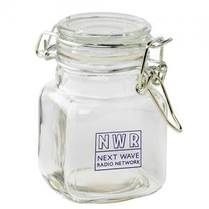 Hinge Top Glass Jar