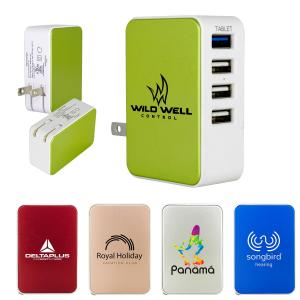 Compact 4 Port USB Folding Wall Charger