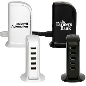 5 Port USB Charging Tower