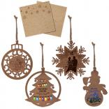 Wood Holiday Ornament