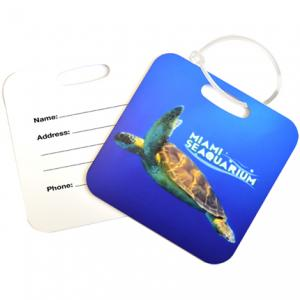 Full Color Square Metal Luggage Tag