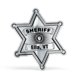 Sheriff Star Lapel Sticker on Roll