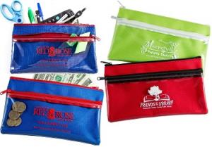 Two Zipper Utility Cosmetic Bag