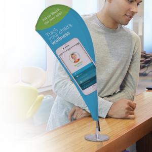 Micro Teardrop Sail Sign, Double-Sided Kit
