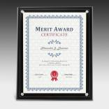 "8"" x 10"" Clear On Black Certificate Holder"