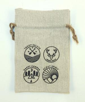 4 x 6 REBEL Rough All Natural Cotton Hemp Drawstring Bag
