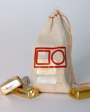 5 x 8 All Natural Cotton Drawstring Bag