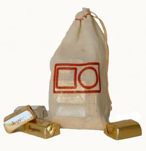 4 x 6 Natural Cotton Drawstring Bag