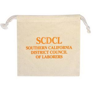 8 x 8 All Natural Cotton Drawstring Bag