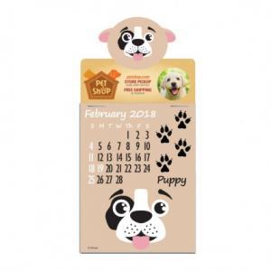 Full Color Press-N-Stick Pet Pad Calendar