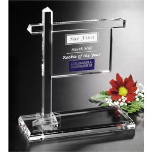 Real Estate Sign Crystal Award