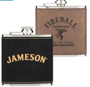 6 oz. Leatherette Wrapped Flask