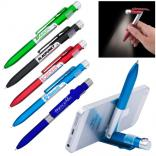 3 in 1 Smartphone Stand Light Ballpoint Pen