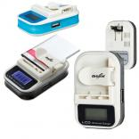 Universal Battery Charger with USB Port & LCD Display