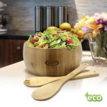 3 Piece Bamboo Salad Bowl Set