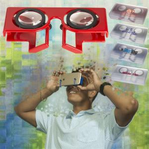 Folding Virtual Reality 3D Glasses