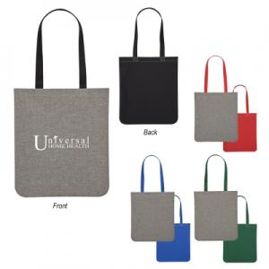 Interwoven Two-Tone Brochure Tote Bag