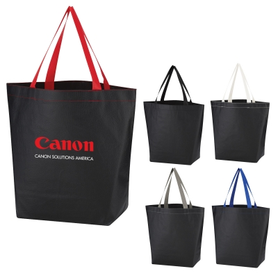 Non-Woven Leather -Look Tote Bag