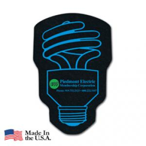 Recycled Tire CFL Energy Bulb Coaster