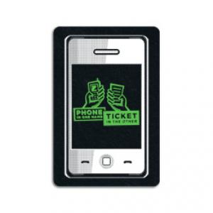 King Size Smart Phone Recycled Tire Coaster