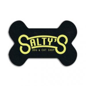 King Size Dog Bone Recycled Tire Coaster