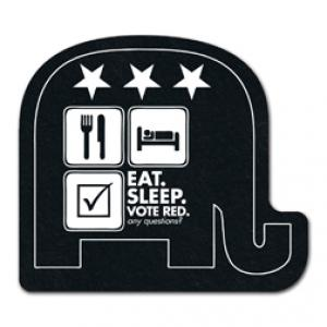King Size Elephant Recycled Tire Coaster
