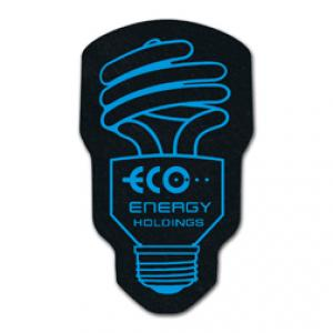 King Size Fluorescent Light Bulb Recycled Tire Coaster