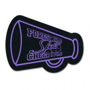 King Size Cheerleader Megaphone Recycled Tire Coaster