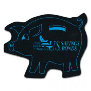 King Size Piggy Bank Recycled Tire Coaster