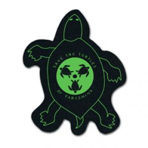 King Size Turtle Recycled Tire Coaster
