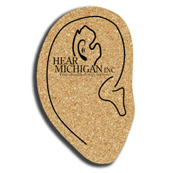 Cork Ear Coaster