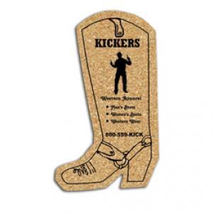 King Size Cork Cowboy Boot Coaster