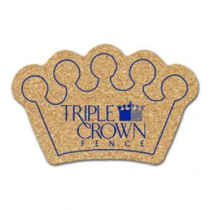 King Size Cork Crown Coaster