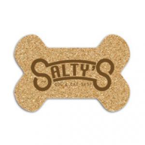 King Size Cork Dog Bone Coaster