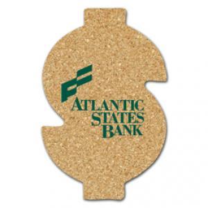 King Size Cork Dollar Sign Coaster