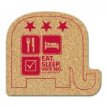 King Size Cork Elephant Coaster
