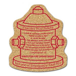 King Size Cork Fire Hydrant Coaster