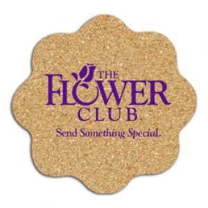 King Size Cork Flower Coaster